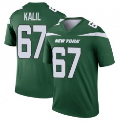 Legend Men's Ryan Kalil New York Jets Nike Player Jersey - Gotham Green