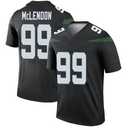 Legend Men's Steve McLendon New York Jets Nike Color Rush Jersey - Stealth Black