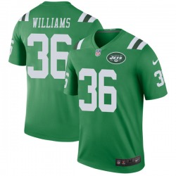 Legend Men's Terry Williams New York Jets Nike Color Rush Jersey - Green