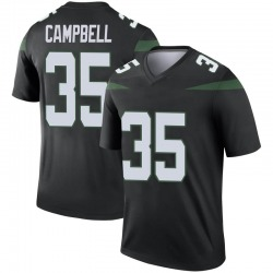 Legend Men's Tevaughn Campbell New York Jets Nike Color Rush Jersey - Stealth Black