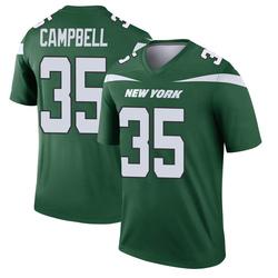Legend Men's Tevaughn Campbell New York Jets Nike Player Jersey - Gotham Green