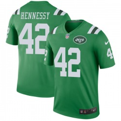 Legend Men's Thomas Hennessy New York Jets Nike Color Rush Jersey - Green