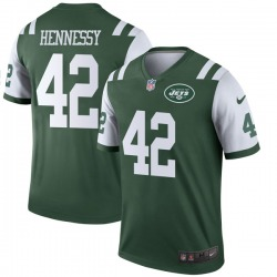 Legend Men's Thomas Hennessy New York Jets Nike Jersey - Green