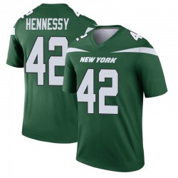 Legend Men's Thomas Hennessy New York Jets Nike Player Jersey - Gotham Green