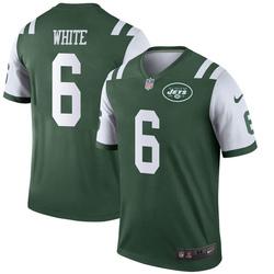 Legend Men's Tim White New York Jets Nike Green Jersey - White