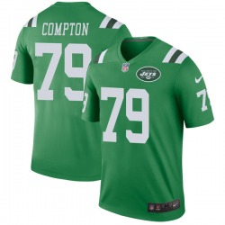 Legend Men's Tom Compton New York Jets Nike Color Rush Jersey - Green