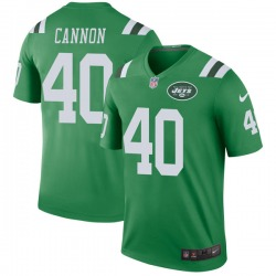 Legend Men's Trenton Cannon New York Jets Nike Color Rush Jersey - Green