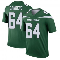 Legend Men's Trevon Sanders New York Jets Nike Player Jersey - Gotham Green