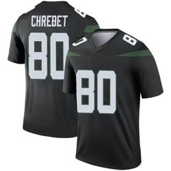 Legend Men's Wayne Chrebet New York Jets Nike Color Rush Jersey - Stealth Black