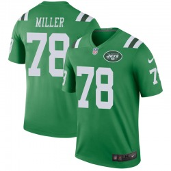 Legend Men's Wyatt Miller New York Jets Nike Color Rush Jersey - Green