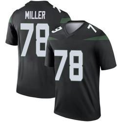Legend Men's Wyatt Miller New York Jets Nike Color Rush Jersey - Stealth Black
