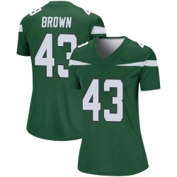Legend Women's Alex Brown New York Jets Nike Player Jersey - Gotham Green