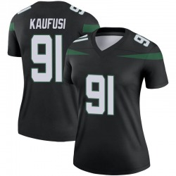 Legend Women's Bronson Kaufusi New York Jets Nike Color Rush Jersey - Stealth Black