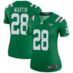 Legend Women's Curtis Martin New York Jets Nike Color Rush Jersey - Green