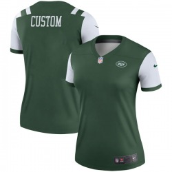 Legend Women's Custom New York Jets Nike # # Jersey - Green