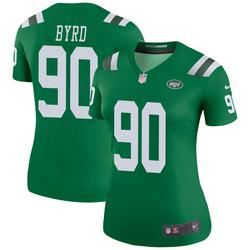 Legend Women's Dennis Byrd New York Jets Nike Color Rush Jersey - Green