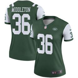 Legend Women's Doug Middleton New York Jets Nike Jersey - Green
