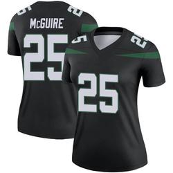 Legend Women's Elijah McGuire New York Jets Nike Color Rush Jersey - Stealth Black