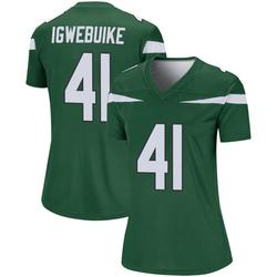 Legend Women's Godwin Igwebuike New York Jets Nike Player Jersey - Gotham Green