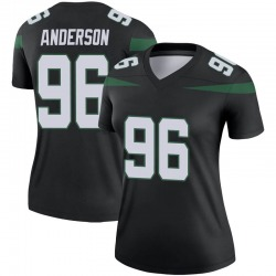 Legend Women's Henry Anderson New York Jets Nike Color Rush Jersey - Stealth Black