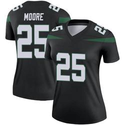 Legend Women's Jalin Moore New York Jets Nike Color Rush Jersey - Stealth Black