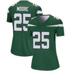 Legend Women's Jalin Moore New York Jets Nike Player Jersey - Gotham Green