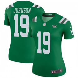 Legend Women's Keyshawn Johnson New York Jets Nike Color Rush Jersey - Green