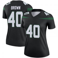 Legend Women's Kyron Brown New York Jets Nike Color Rush Jersey - Stealth Black