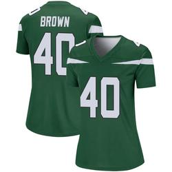 Legend Women's Kyron Brown New York Jets Nike Player Jersey - Gotham Green