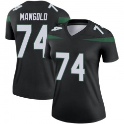 Legend Women's Nick Mangold New York Jets Nike Color Rush Jersey - Stealth Black