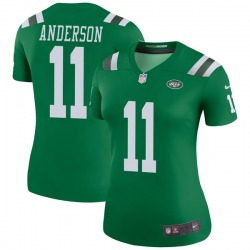 Legend Women's Robby Anderson New York Jets Nike Color Rush Jersey - Green