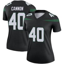 Legend Women's Trenton Cannon New York Jets Nike Color Rush Jersey - Stealth Black