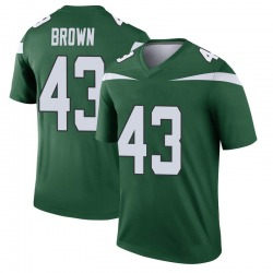 Legend Youth Alex Brown New York Jets Nike Player Jersey - Gotham Green