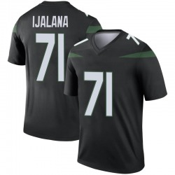 Legend Youth Ben Ijalana New York Jets Nike Color Rush Jersey - Stealth Black