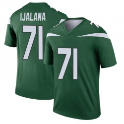 Legend Youth Ben Ijalana New York Jets Nike Player Jersey - Gotham Green