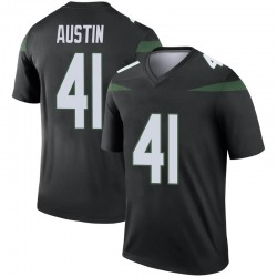 Legend Youth Blessuan Austin New York Jets Nike Color Rush Jersey - Stealth Black