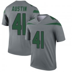 Legend Youth Blessuan Austin New York Jets Nike Inverted Jersey - Gray