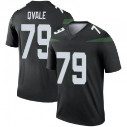 Legend Youth Brent Qvale New York Jets Nike Color Rush Jersey - Stealth Black