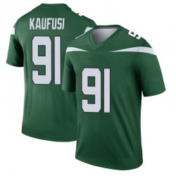 Legend Youth Bronson Kaufusi New York Jets Nike Player Jersey - Gotham Green