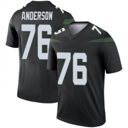 Legend Youth Calvin Anderson New York Jets Nike Color Rush Jersey - Stealth Black