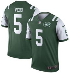 Legend Youth Davis Webb New York Jets Nike Jersey - Green