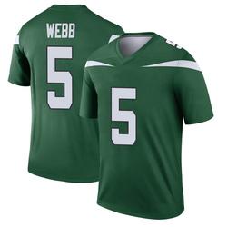 Legend Youth Davis Webb New York Jets Nike Player Jersey - Gotham Green