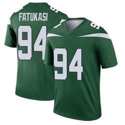 Legend Youth Folorunso Fatukasi New York Jets Nike Player Jersey - Gotham Green