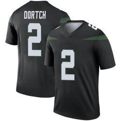 Legend Youth Greg Dortch New York Jets Nike Color Rush Jersey - Stealth Black