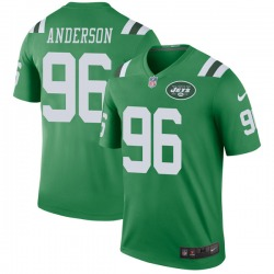 Legend Youth Henry Anderson New York Jets Nike Color Rush Jersey - Green