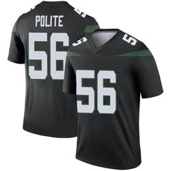 Legend Youth Jachai Polite New York Jets Nike Color Rush Jersey - Stealth Black