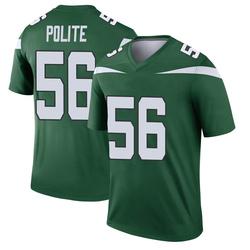 Legend Youth Jachai Polite New York Jets Nike Player Jersey - Gotham Green