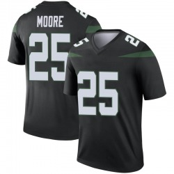 Legend Youth Jalin Moore New York Jets Nike Color Rush Jersey - Stealth Black