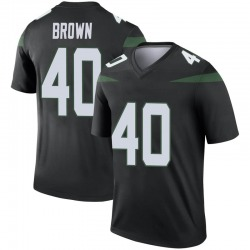 Legend Youth Kyron Brown New York Jets Nike Color Rush Jersey - Stealth Black