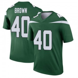 Legend Youth Kyron Brown New York Jets Nike Player Jersey - Gotham Green